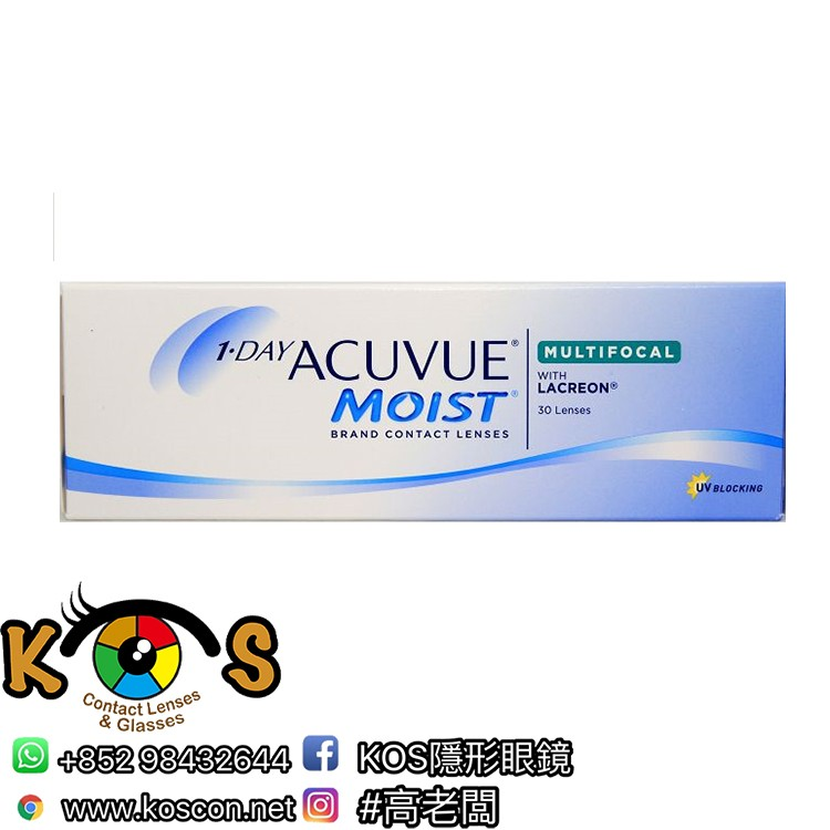 1-DAY ACUVUE® MOIST® Multifocal 每日即棄漸進