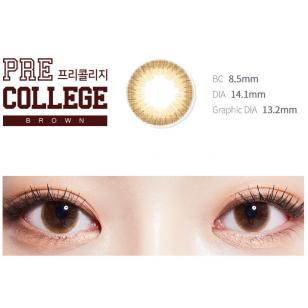 Lens-Town Precollege Brown(月拋)